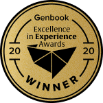 Genbook Excellence in Experience Awards winner badge