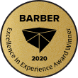 Genbook Excellence in Experience Awards badge - Barber