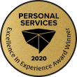 Genbook Excellence in Experience Awards badge - Personal Services